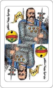 """A Székely Kártya a hagyományos magyar kártya stílusát és szerkezetét megtartva, """"helyi érdekű"""" személyiségeket ábrázol a lapokon a Sxhiller színmű szereplői helyett"""