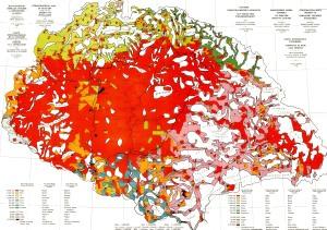 A Teleki-féle (1910) etnikai térkép - piros szín jelöli az ország területén élő magyarokat