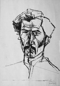 Önarckép - tusrajz, 1978