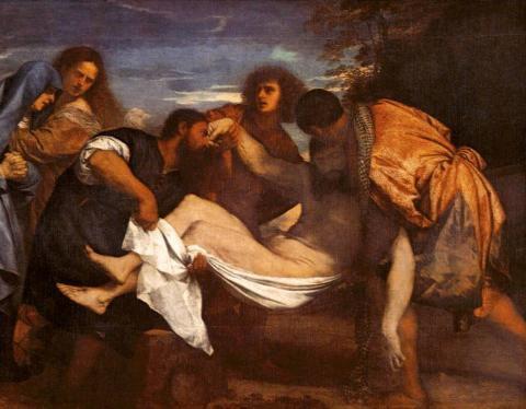 Tiziano: Jézus sírbatétele