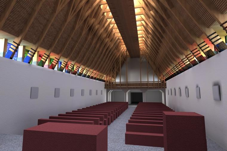 Impozáns lesz a belső, korszerű és hagyományt építészeti megoldásokkal