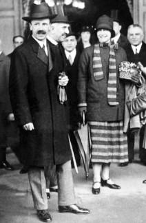 Bethlen István és felesége egy római látogatáson (1920-as évek)