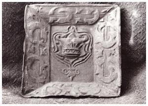 Csempelap a 18. századból - a helyi kerámiakészítés legrégebbi fennmaradt bizonyítéka