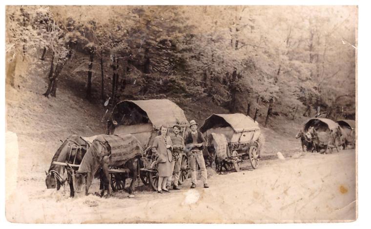Korondi szekeresek az 1930-as évekből