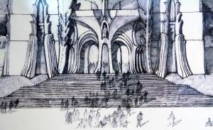 EMLÉK-KÉP-KRÓNIKA - Kiállítás Makovecz Imre grafikáiból