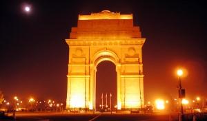 Éjszakai fények Delhiben