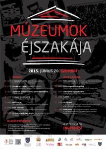 HRM muzeumok ejszakaja A2 plakat