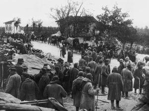 A caporettói áttöréskor fogságba esett olasz katonák