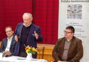 Hoppál Péter államtitkát (EMMI), Szávai Márton elnök (Pro Énlaka Alapítvány) és Bali János alelnök (NSKI) - Fotók: Szabó Károly