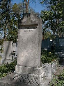 A művész sírja a kolozsvári Házsongárdi-temetőben