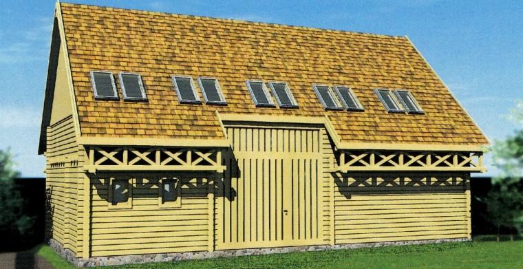 A hagyományos csűr formáját idéző kulturális központ a közelmúlban készült el