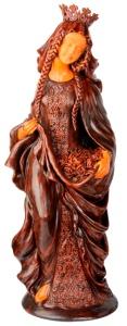 Szent Erzsébet. Józsa Judit kerámiaszobra a Magyar Nagyasszonyok című sorozatból