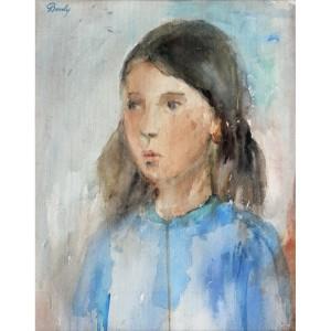 Kislány portréja