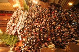 Budapesten a Belvárosi Ferences-templomban (Horváth Domokos felvétele)