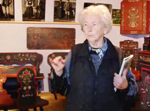 Kovács Piroska a székelykapuk őrzője, a máréfalvi tájház gondnoka