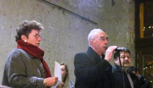 Petneházy Judit, Visy Zsolt és Szász Jenő a kiállítás megnyitóján
