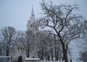 A széki református templom télen (Az alábbi írásban szereplő, külön nem jelzett fotók Szék község hivatalos honlapjáról valók)