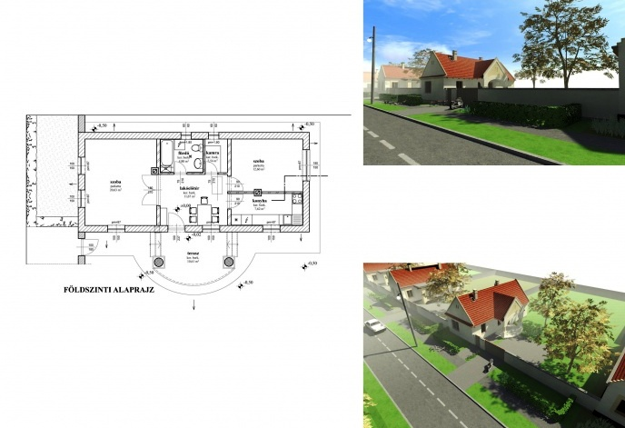 A felvételek és a rajz a www.epiteszforum.hu honlaról való. Az építkezéseket a Kós Károly Egyesülés koordinálta
