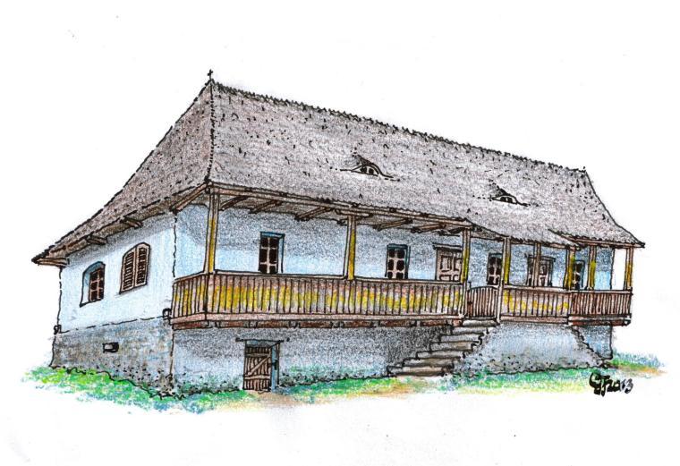 Simó Ferenc háza (Atyha, 143 szám), 2014 - Gyöngyössy János rajza