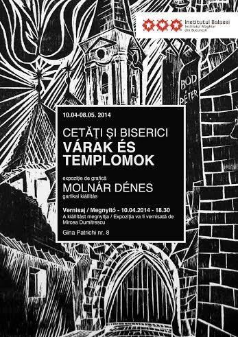 A Várak és templomok c. kiállítás plakátja