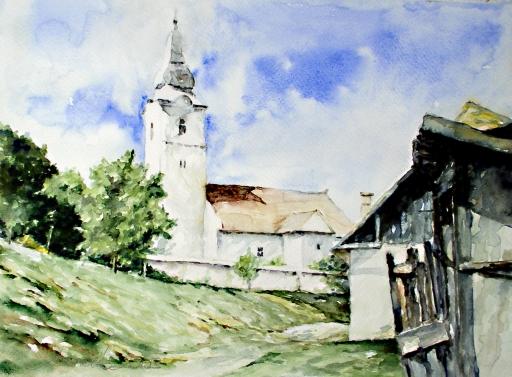 Bágyon - Kovács Ferenc akvarellje