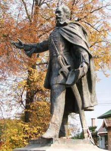 Az újragondolt Kossuth-szobor Gyergyócsomafalván - Sántha Csaba munkája tiszteltgés Kossuth és Köllö Miklós emléke előtt