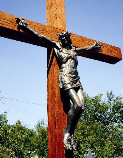 Krisztus-szobor Deményházán (2011)