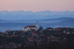 Oroszhegy - háttérben a Fogarasi-havasok (Bálint Elemér Imre felvétele)