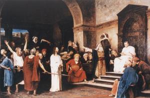 Munkácsy Mihály: Krisztus Pilátus előtt (1881) - olaj-vászon, 417 x 636 cm