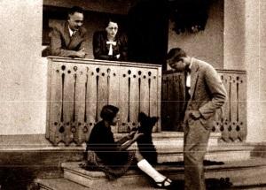 Nyirő József és családja Szombatfalván az 1930-as években (Kováts-fotó)