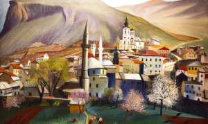 Csontváry-Kosztka Tivadar: Tavasz Mosztárban