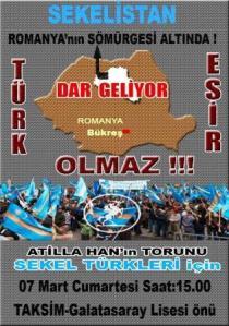 Tüntetésre szólító plakát