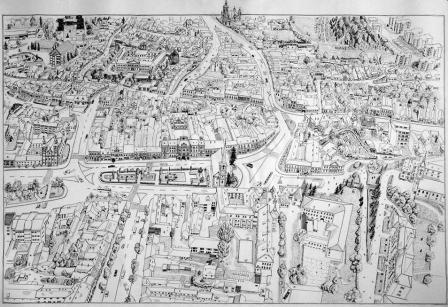 Székelyudvarhely - történelmi városmag - Kelemen Albert rajza