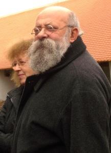Gyöngyössy János, mint várur és az ő neje egy 2015 novemberében készült felvételen (Fotó: Simó Márton)