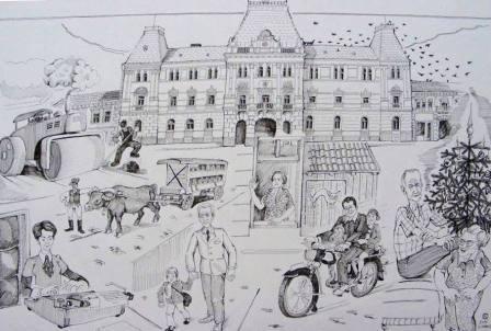 Városháza - Total local - Kelemen Albert rajza