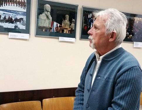 Kerekes Péter Pál - a felvétel 2015. októberében, Huszárlesen című egyéni fotótárlata megnyitóján készült
