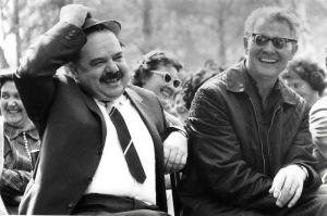 Fazekas János (1926-2004) és Király Károly - az 1970-es évek elején készült felvétel