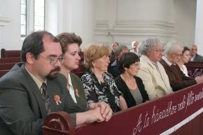Művészek a nagybányai református templomban