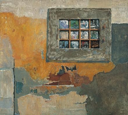Nagy Pál: Vakablak, 1971 (olaj)