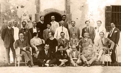 Az 1927-es találkozóról készült felvétel
