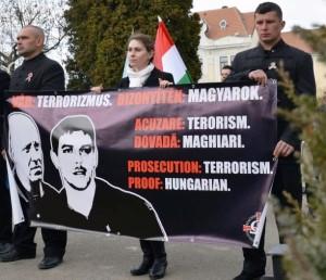 Szimpátiatüntetés a letartóztatott aktivisták mellett 2016. március 15-én - fotó: Kátai Edit/ MTI