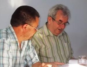 Lövétei Lázár Lászlóval, a Székelyföld főszerkesztőjével (A szerző felvételei)