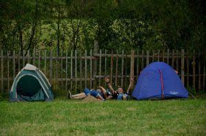 Az első táborozók (Bányász Anna felvétele)