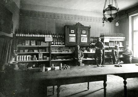 Csíkszeredai üzlet 1916. őszén (A Bécsi Katonai Levéltár archívumából)