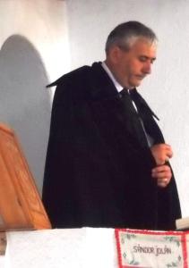Simó Sándor esperes, a vendéglátó gyülekezet lelkésze