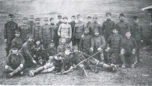 A 82-es gyalogezred egyik alakulata az Ojtozi-szorosnál vívott csaták idején (Simó Márton tulajdona)