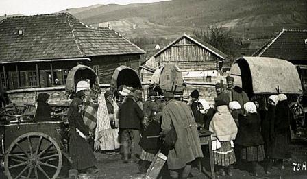 Menekülők 1916. augusztusában (A Bécsi Katonai Levéltár archívumából)