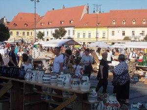 A Nagypiac téren (Simó Márton felvétele)