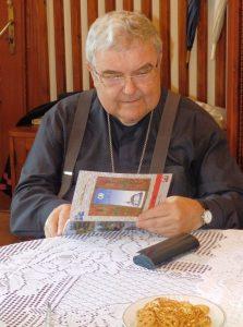 Az érsek atya az atyhai plébánián 2016. augusztus 6-án
