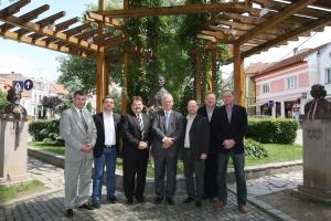 Budapest főpolgármestere az NSKI igazgatója és székelyudvarhelyi elöljárók társaságában